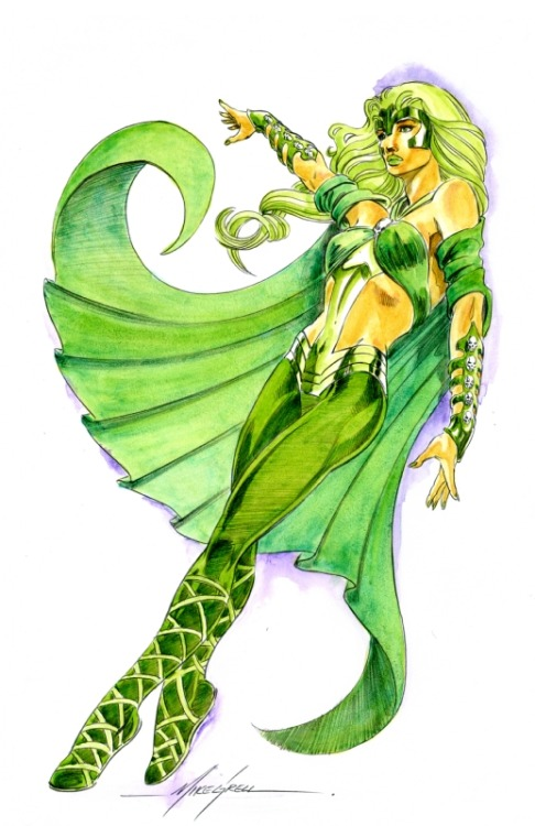 dr-killjoy:  Polaris by Mike Grell  Gorgeous. Makes me want to remake my costume…