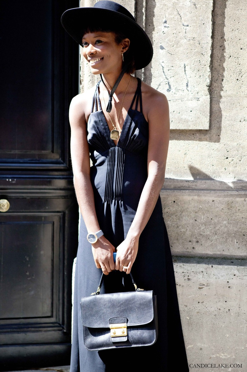 Shala Monroque | after Valentino | Couture Fall 2011, Paris Shala is ALWAYS smiling and ALWAYS wearing bright pops of colour.  Even when she is dressed all in black (which is such a rarity!) she somehow seems to radiate warmth.
