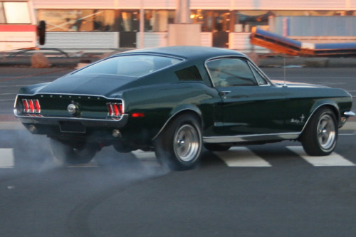 "optimusleo:  Emulating McQueen 68' Mustang Fastback, just like the one in the movie ""Bullit"""
