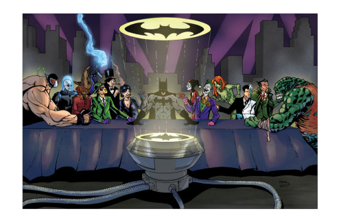 batmania:  Last Supper of Gotham by Phillip Sevy Via Adding this to my DC last supper collection.