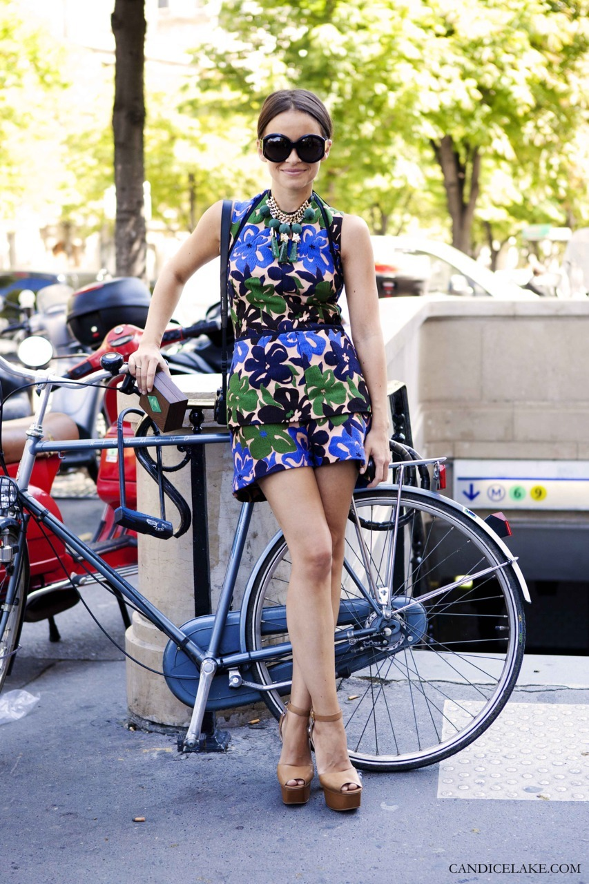 Miroslava Duma | Paris Couture Fall 2011 Marni… pops of colour… 60's/ 50's…  big sunglasses… Paris… all things I LOVE!