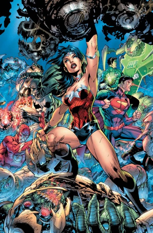 dcu:  Justice League #3 I love when DC gives us something awesome to start the week off with.  This is a pretty awesome cover!