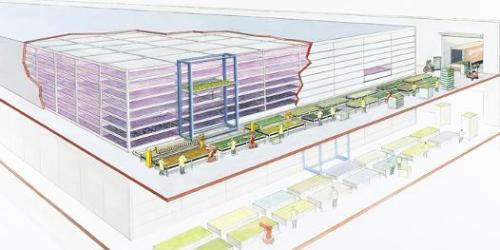 Dutch PlantLab Revolutionizes Farming: No Sunlight, No Windows, Less Water, Better Food | Singularity Hub You've heard of paint by numbers? Get ready for feed-the-world by numbers. Dutch agricultural company PlantLab wants  to change almost everything you know about growing plants. Instead of  outdoors, they want farms to be in skyscrapers, warehouses, or  underground using hydroponics or other forms of controlled environments.  Instead of sunlight they use red and blue LEDs. Water? They need just  10% of the traditional requirements. At every stage of their high tech  process, PlantLab monitors thousands of details (163,830 reports per  second!) with advanced sensors to create the perfect environment for  each individual type of crop. In short, they create a high tech 'plant  paradise'. See it in action in the videos below, followed by plenty of  pics of their tomatoes, cucumbers, peppers, etc. PlantLab's  revolutionary approach to agriculture may be able to leverage math and  science to create a better food supply for the world's escalating  population. Fresher, local, more efficient…and they supposedly taste  better too! via smarterplanet