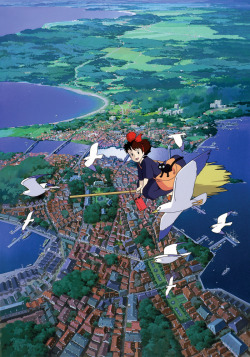 Japanese film poster for Kiki's Delivery Service