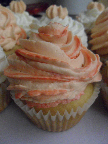 thecakebar:  Lovely Peach Cupcake