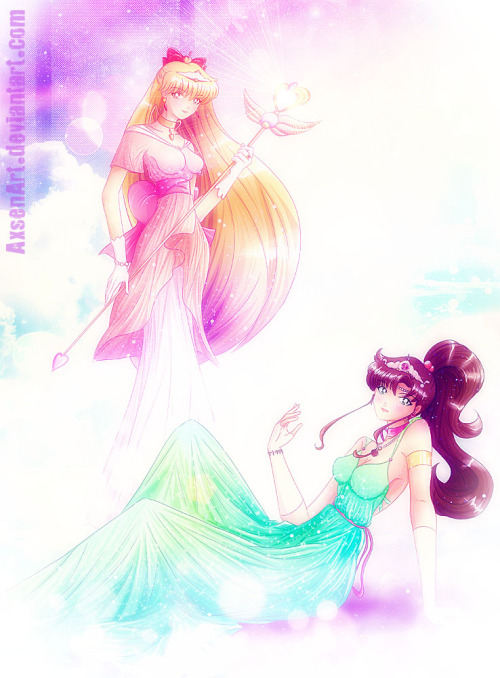 Neo Princess Jupiter and Venus by ~AxsenArt