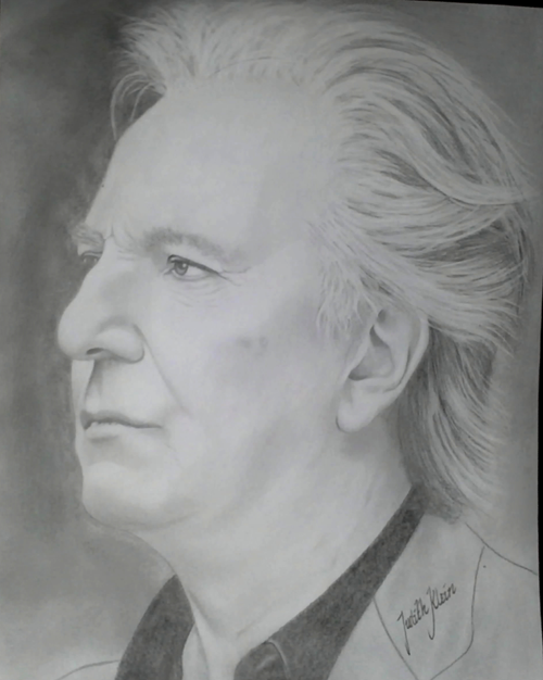 Drawing of Alan Rickman