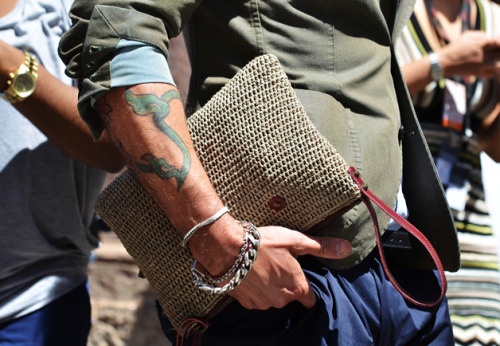 khaido:  the bag, the tat, the BRACELETS….the everything.  love, love, love. photo: tommy ton