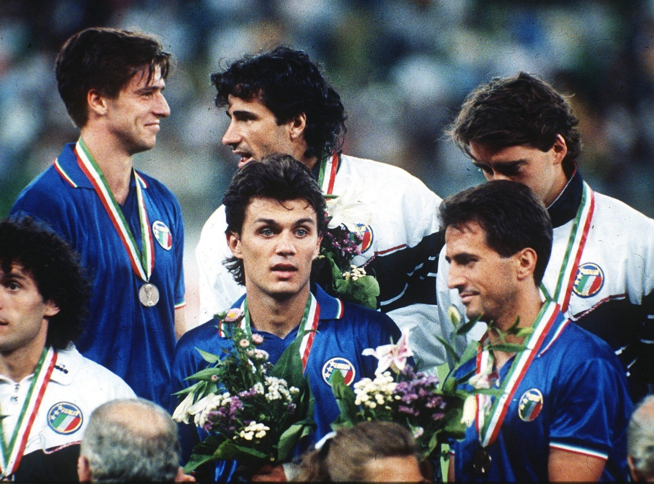 After the third-place match at World Cup 1990.