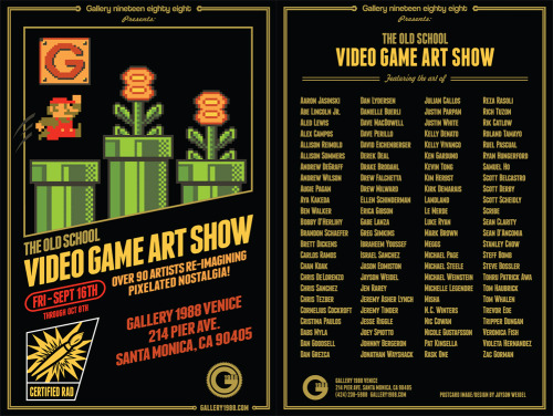 "See work by @stan_chow and others in ""The Old School Video Game Art Show"" opening next month in Santa Monica. stanleychowillustration:  I'm chuffed to be involved in this exhibition at Gallery 1988."