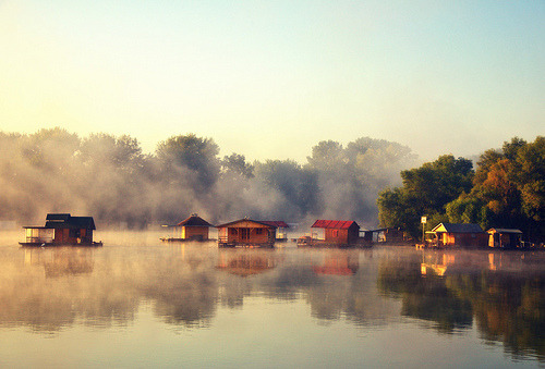 theworldwelivein:  Morning on river Sava, Belgrade, Serbia (by ceca67)