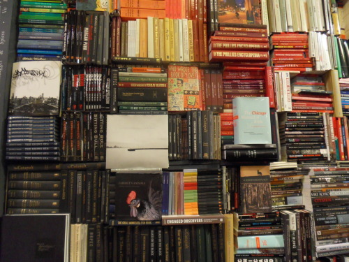 chicagopublishes:  Book Wall in the Chicago Publishers Gallery.    This is a shot of our Book Wall in the CPG.  One of our latest additions, and one of my favorites! :)