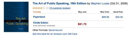 "Amazon.com listing for ""The Art of Public Speaking"""