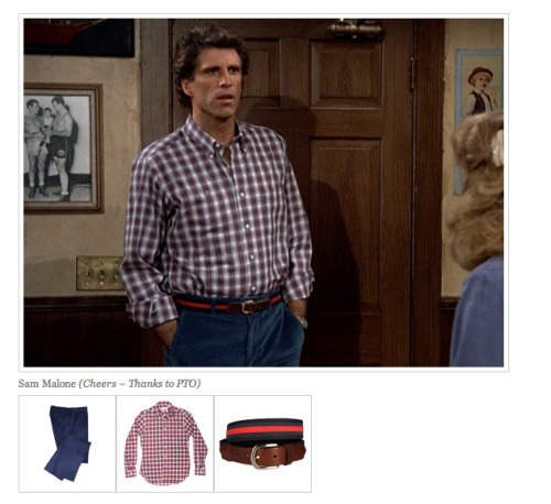 Have I been obsessively watching Cheers on Netflix Instant? Yes. Have I been hounding Roxana to include Sam in a Nerd Boyfriend post? Yes. Do I demand that Frasier be next? Yes.