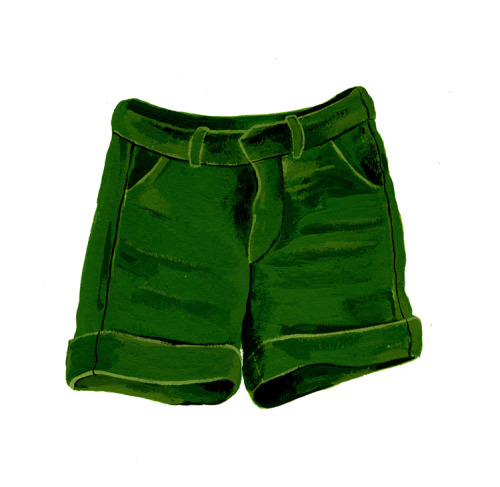 kellylasserre:  green shorts