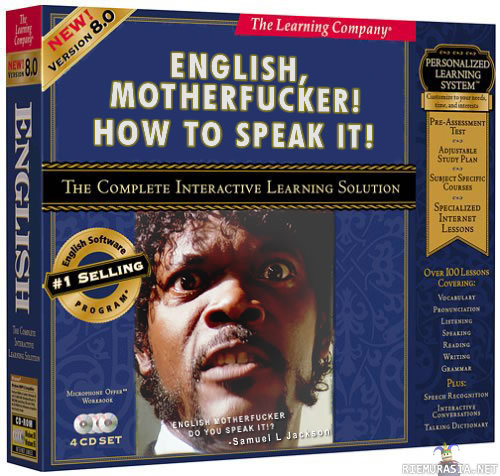 English lessons sponsored by Jules Winnfield!?! Great packaging idea - Haardeehaar #messy #filmshit #funnyish x