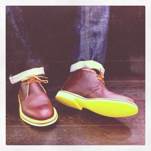 onemanshoe:  Mark McNairy boots via Mr. Porter's instagram. Love the yellow.