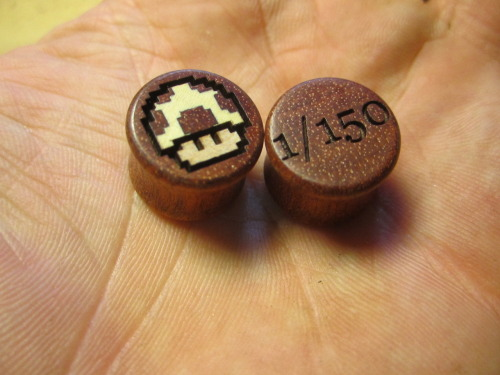 plugsaremydrugs:  omericaorganic-official:  Pair 1/150 of our Power Up plugs, just finished and on the way to their new owner :)  Who else scored themselves a pair of limited Power Ups from Omerica Organic? I know I did :D