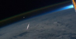 What a meteor looks like from space.