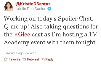 REMINDER: Glee event tonight