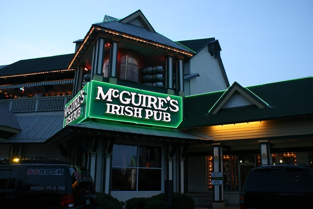 DOUBLE POST MADNESS Food of Choice: McGuire's Irish Pub of Destin This place is memory city (and mammary city if you check out the beer taps) and I always enjoy the atmosphere, as well as the food.  Everyone always seems chipper and the good times just keep on coming.  Try the award-winning meats, especially any of the steaks: made with the prime cuts (supposedly the top 10% of all beef inspected is served with their steak plates) of cows.  Come for the 1.2 million on the wall, stay for the 1.2 million you will spend between the family and the novelties. *This Just In! Dear lord, help me, for the amount of food I have consumed is truly unholy.  I cannot believe I didn't lose any of it but am so thankful I only felt nausea for about 30 minutes.  Still cannot express how tasty it was going down…but it takes a true 5* establishment to make it good coming up.  Glad I did not find out.