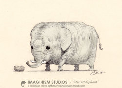 "geekvariety:  Bobby Chiu & Kei Acedera  -:|:-  ""Micro Elephant"" [deviantart]  [artistsite]  ""The ""Micro Elephant"" are timid creatures due to their small size and inability to defend themselves. Very rarely seen with the untrained eye.""  -Bobby"