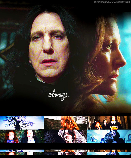 drunkandblogging:  harry potter ships → snape & lily (requested by anonymous)