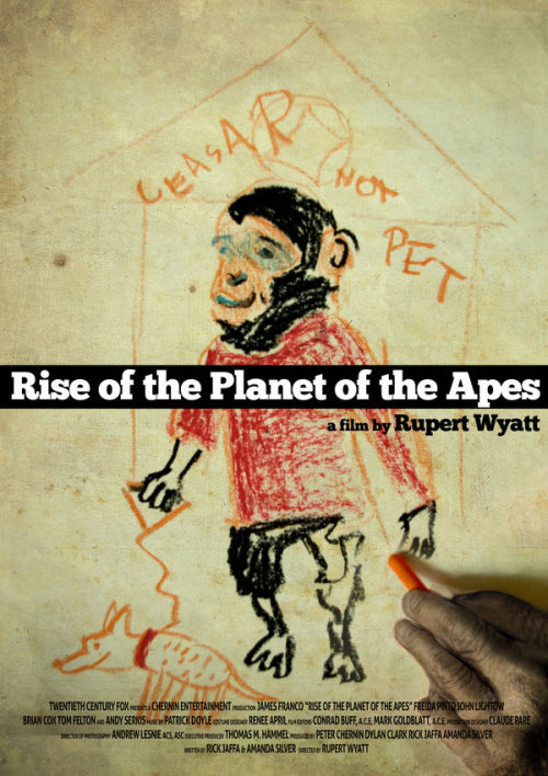 goldenmovieman:  Rise of The Planet of the Apes redesigned movie poster by Patyczak