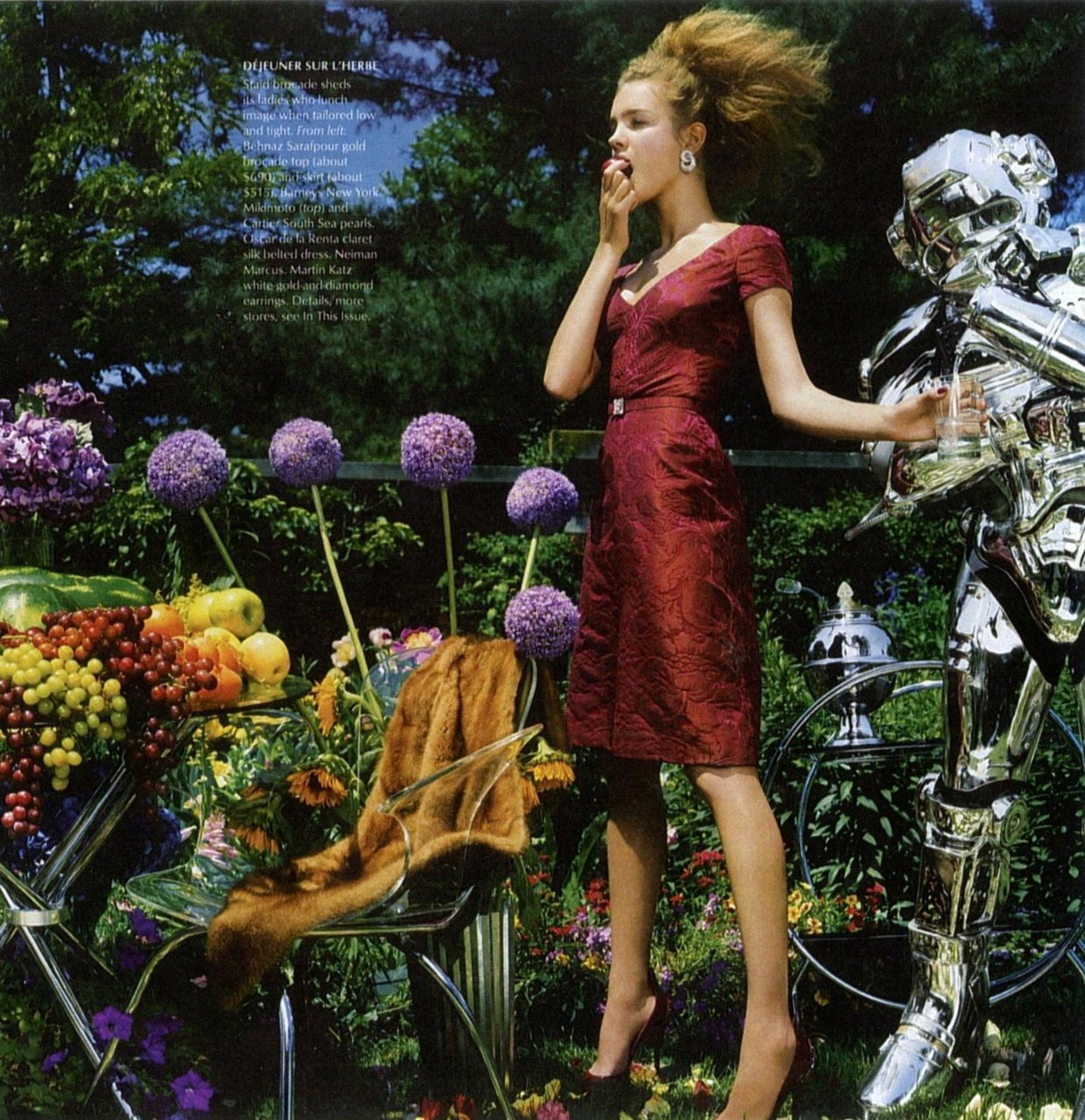 from Vogue, 2003. I'm interested in that hair.