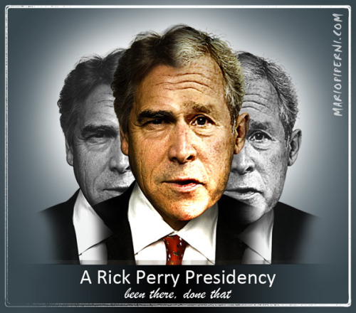 Perry/Bush via @mariopiperni Frightening.