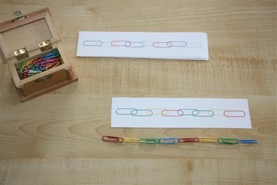 teachpreschool:  (via Counting Coconuts: Pattering With Paper Clips)