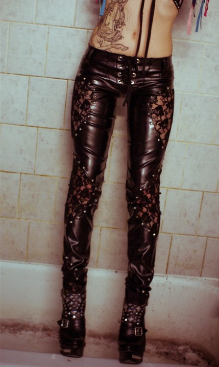 toxicvisionclothing:  Toxic Vision leather n lace