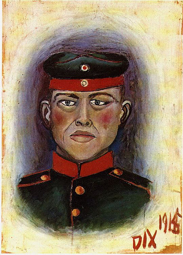 Otto Dix, Self-Portrait as Targget,  1915