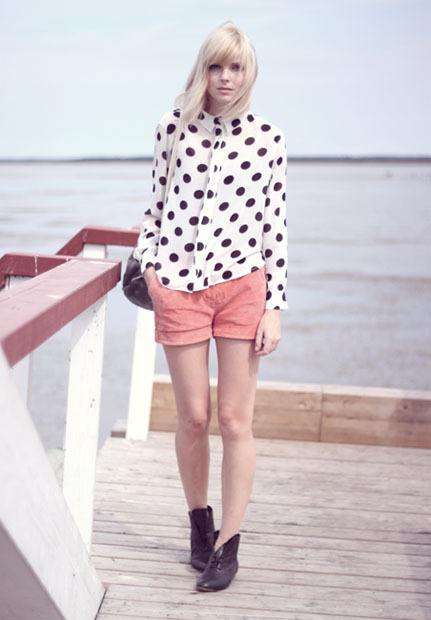 Make a statement with oversize polka dots this fall!