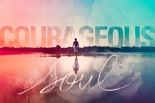 "COURAGEOUS SOUL (by Andre Bohrer) //15//fifty-two weeks of design COURAGE.When does someone know courage is present?Is it when everyone has their eyes on the center-stage, waiting for the ring master to make the first move?Is it when a simple budge from a muscular arm saves the helpless woman under the burning car?Is it when the expected — however grandiose — is carried out, in order to maintain the erected reputation? Or is it when everything is said and done, and, in the quiet, a word of empowerment roars through the air?Or is it when the little man suddenly becomes the one who fears no death, and the big giant is suddenly the one who trembles at its breath?Or is it when the humble and wise admit to the knowing that courage comes not from the outside, but within? I've learned a lot about courage lately. Different people, and different things, have spoken to me in different ways. One of my friends reminded me of 2 Timothy 1:7, which says: ""For God hath not given us the spirit of fear; but of power, and of love, and of a sound mind."" Captain American taught me more than I could possibly imagine. And yet another one of my friends, featured above, showed me in real life — even if he may have thought it was the silliest of forms — what a courageous soul truly was."