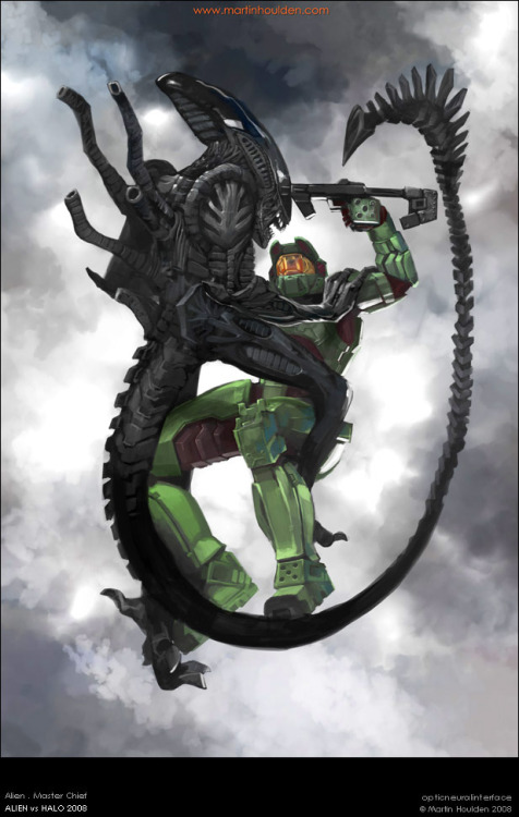 dogeyobogey:  I'd actually much rather see Master Chief fight the Predator. After the Flood, Alien shouldn't be a problem.