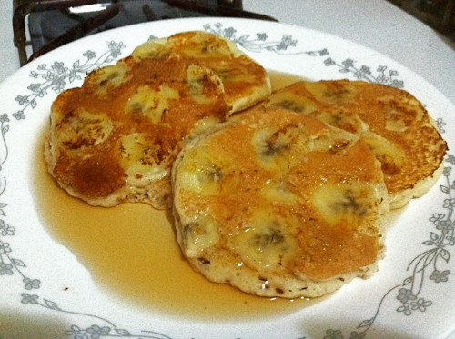 Yummy Banana Pancakes for Dinner!! :)