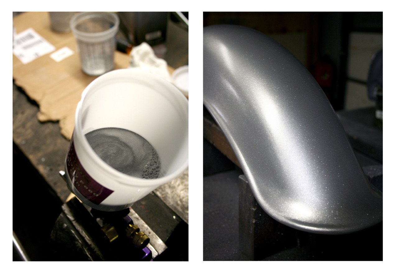 Step One - Silver Base with Silver Flake