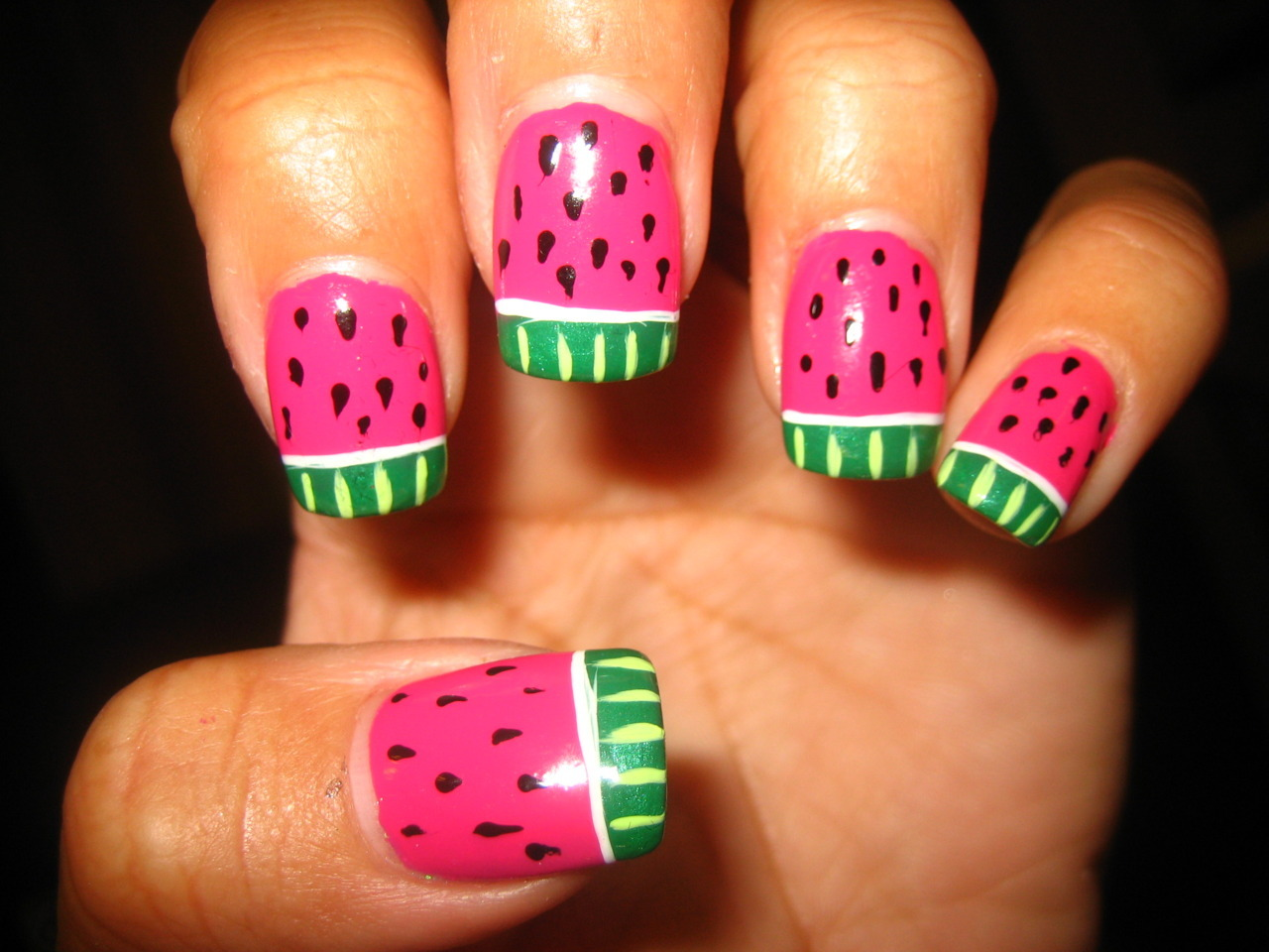 my watermellon nails love them!
