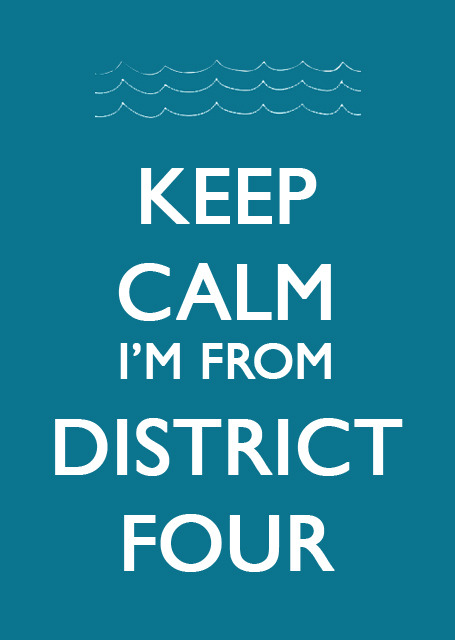 Keep Calm I'm From District Four  #HungerGames #Finnick More on the blog! :)