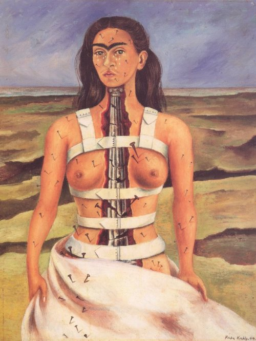 suicideblonde:  The Broken Column (1944) by Frida Kahlo