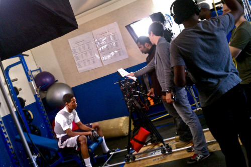 Lighting a promo spot for All High Sports, www.perezbros.com