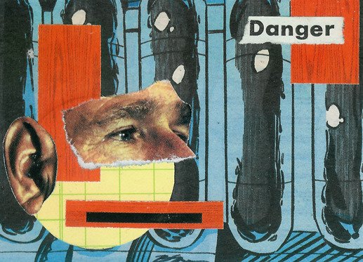 [Hoop and Stick Trading Card 22] 'Unmanned Drone' - Collage on Card Stock 2011