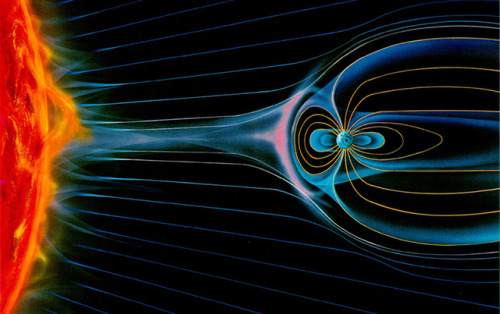 Amazing. sciencecenter:    Satellite Finds Evidence of Antimatter Belt Around Earth  Data from the cosmic ray satellite PAMELA has added substantial weight to the theory that the Earth is encircled by a thin band of antimatter. The satellite, named Payload for Antimatter Matter Exploration and Light-nuclei Astrophysics, was launched in 2006 to study the nature of cosmic rays — high-energy particles from the Sun and beyond the solar system which barrel into Earth. When those cosmic rays smash into molecules in the Earth's upper atmosphere, a shower of smaller particles is created. Physicists have assumed that a small number of those resulting particles will be anti-protons. Most of those will be instantly annihilated when they collide with particles of ordinary matter. But those which don't collide should get trapped in the Earth's torus-shaped Van Allen radiation belt, and form a layer of antimatter in the Earth's atmosphere.