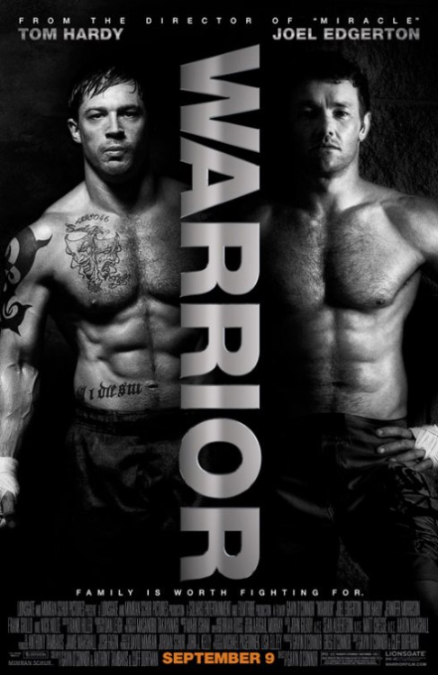 (#95) Warrior - 2011 - Directed by Gavin O'Connor   Such a powerful film, with knock out performances from Tom Hardy, Joel Edgerton, & Nick Nolte. Oscar worthy is what describes this film best. There is not a wasted frame during it's entire running time. It will keep you on the edge of your seat for the entire third act. Go & see this magnificent film as soon as you can…
