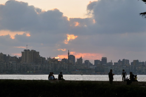 Alexandria at sunset.
