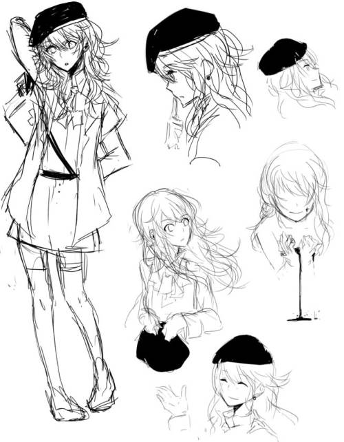 messy doodles— My Oc for Milizia Rp group on DA..  I want to make her kind of yandere— 8'DD