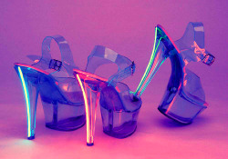 heels shoes neon stripper shoes