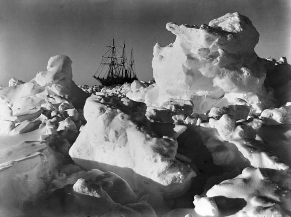 turnofthecentury:  HMS Endurance Trapped in Antarctic Pack Ice,1915 by Frank Hurley