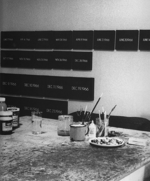 whitewallwonder:  On Kawara 13th Street Studio, 1966